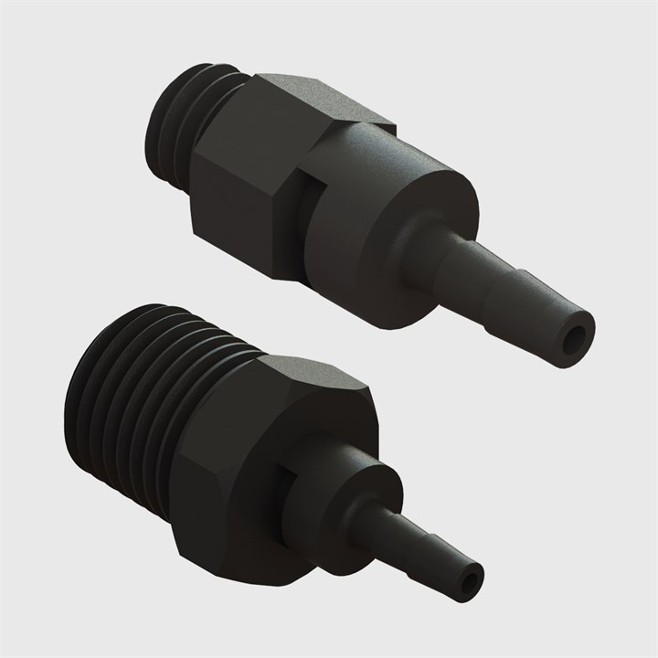 Multi-Barb Thead to Tube Swivel Straight Male Adaptors