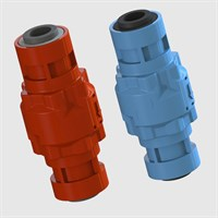 Modular Check Valve, Push-In Input and Output, Nitrile Seals, Various Cracking Pressures
