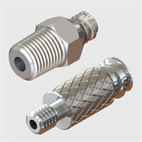 Nickel Plated Brass Luers - Luer to Thread