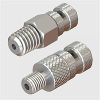 Nickel Plated Brass Luers - Rotating Collar Male Luer Locks
