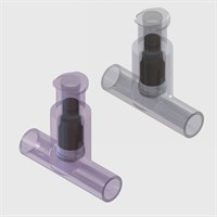 Luer Lock Access Needle Free T-Port Check Valves, Female Luer Lock, Bondable Tube Ports - Pack Size 50