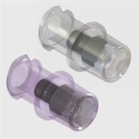 Luer Lock Access Needle Free Check Valves with Female Luer Lock, Short Body - Pack Size 50