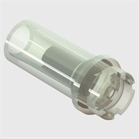 "Catheter Check Valve for 1/4"" ID Tubing, Clear Polypropylene - Pack Size 50"