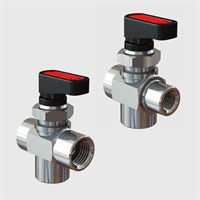 Panel Mount 3 Way Tee Ball Valves