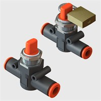 Panel Mountable Shutoff Valves with 6 & 8 mm Push-in Connections