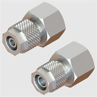 Nickel Plated Brass Fittings-Straight Female-Fixed