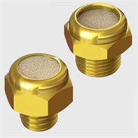 Short Body Style Brass Silencers, Sintered Bronze Element