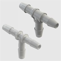 Single Barb Tube to Tube Equal Tees - Pack size 10