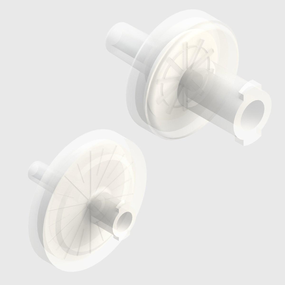 Syringe Filters, Polypropylene Body - Hydrophobic PTFE Membrane - Pack Size  100